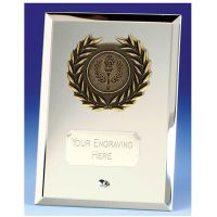 Crest6 Mirror Silver Plaque</br>JC081BQ